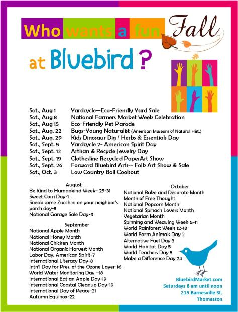 fun fall at bluebird with time and place