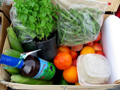 farm box with cider