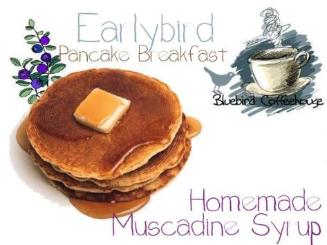 Earlybirds on Labor Day Weekend will enjoy free pancake breakfast with hot homemade muscadine syrup.