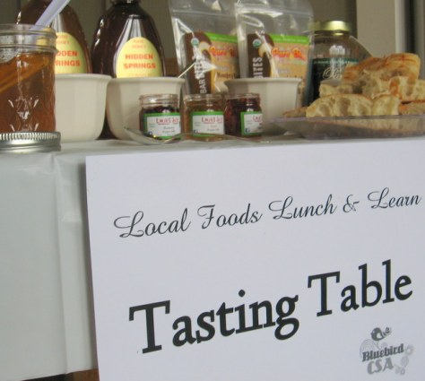 lunch and learn tasting table local foods