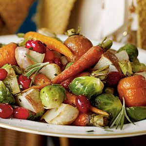 Cranberry Roasted Winter Vegetables Vegan • Gluten free • 1 hr and 5 mins to make • Serves 8