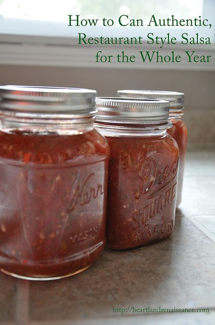 375+ Pins! How to Can Authentic Restaurant Style Salsa for the Whole Year