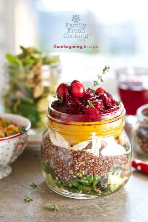 Thanksgiving in a Jar.  Visit tablefeast.com